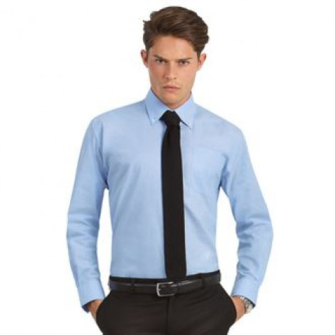 B&C Collection Oxford long sleeve /men