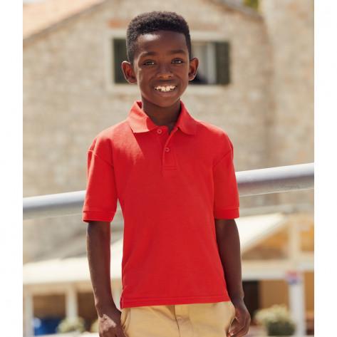 Fruit of the Loom Kids Poly/Cotton Piqué Polo Shirt
