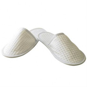 JB Waffle weave slippers with closed toe