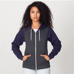 American Apparel Two tone flex fleece zip hoodie (F497)