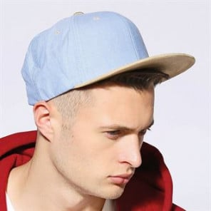 Flexfit by Yupoong Chambray-suede snapback (6089CH)