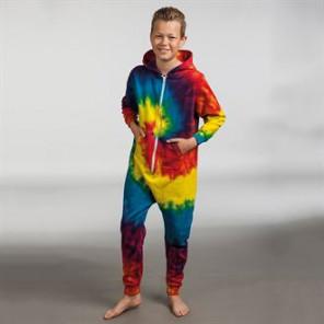 Colortone Kids rainbow tie-die onesie
