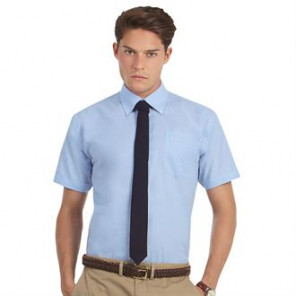 B&C Collection Oxford short sleeve /men