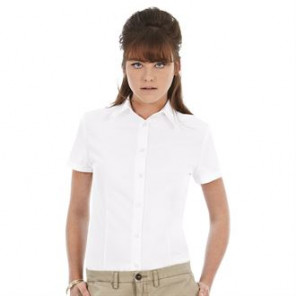 B&C Collection Oxford short sleeve /women