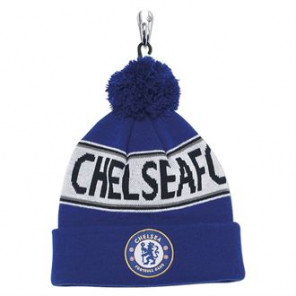 Official Football Merch Adult Chelsea FC text beanie