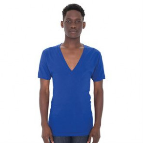 American Apparel Sheer jersey short sleeve deep v-neck (6456)