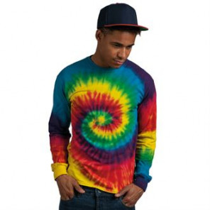 Colortone Long sleeve tie-dye tee