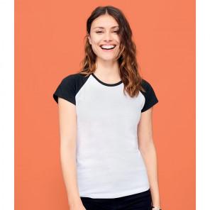 SOL'S Ladies Milky Contrast Baseball T-Shirt