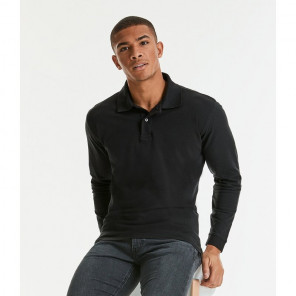 Russell Classic Long Sleeve Cotton Piqu	é Polo Shirt