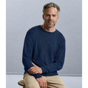 Russell Collection Cotton Acrylic Crew Neck Sweater