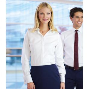 Brook Taverner Ladies Villeta Long Sleeve Herringbone Shirt