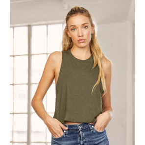 Bella Ladies Racer Back Cropped Tank Top