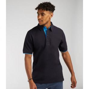 Front Row Contrast Cotton Piqu+® Polo Shirt