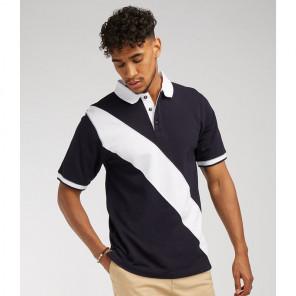 Front Row Diagonal Stripe Cotton Piqu+® Polo Shirt