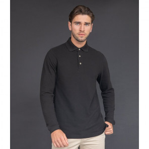 Henbury Long Sleeve Cotton Piqu+® Polo Shirt