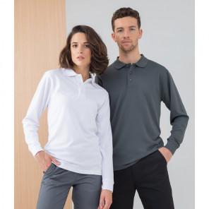 Henbury Long Sleeve Coolplus® Piqué Polo Shirt