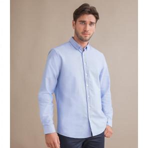 Henbury Modern Long Sleeve Regular Fit Oxford Shirt