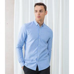Henbury Modern Long Sleeve Slim Fit Oxford Shirt