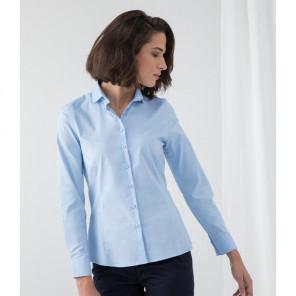 Henbury Ladies Long Sleeve Stretch Poplin Shirt
