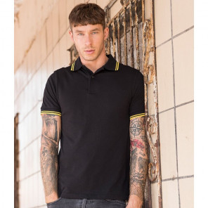 AWDis Stretch Tipped Piqu	é Polo Shirt