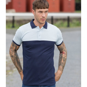 AWDis Colour Block Piqu+® Polo Shirt