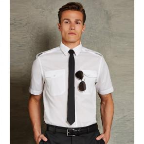Kustom Kit Short Sleeve Tailored Pilot Shirt