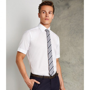 Kustom Kit Short Sleeve Slim Fit Business Shirt