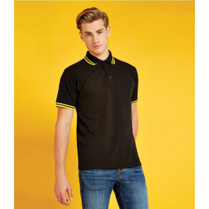 Kustom Kit Contrast Tipped Poly/Cotton Piqu	é Polo Shirt