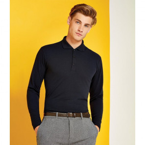 Kustom Kit Long Sleeve Poly/Cotton Piqu+® Polo Shirt