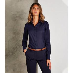 Kustom Kit Ladies Long Sleeve Tailored Business Shirt