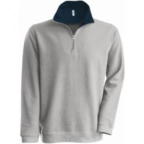 Kariban Trucker Zip Neck Sweatshirt
