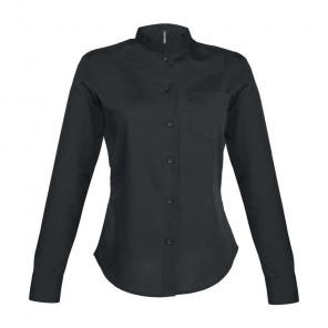 Kariban Ladies Long Sleeve Mandarin Collar Shirt