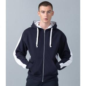 Finden and Hales Contrast Zip Hooded Sweatshirt