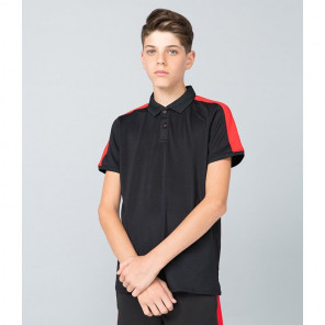 Finden and Hales Kids Contrast Panel Piqu+® Polo Shirt