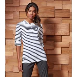Premier Ladies Long John Roll Sleeve T-Shirt