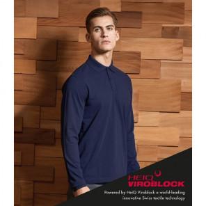 Premier HeiQ Viroblock Unisex Long Sleeve Polo Shirt