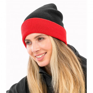 Result Genuine Recycled Black Compass Beanie