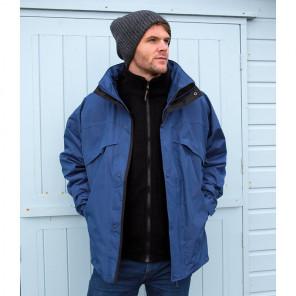 Result 3-in-1 Waterproof Zip and Clip Fleece Lined Jacket
