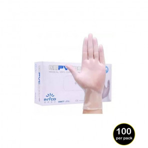 Result Clear Synthetic Vinyl Disposable Gloves