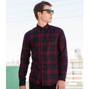 SF Men Brushed Check Casual Shirt