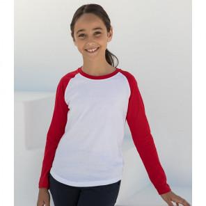 SF Minni Kids Long Sleeve Baseball T-Shirt