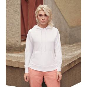 Fruit of the Loom Lady Fit Lightweight Hooded Sweatshirt