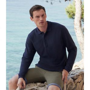 Fruit of the Loom Premium Long Sleeve Cotton Piqu+® Polo Shirt