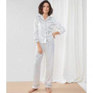 Towel City Ladies Satin Long PJ's